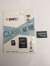 16 GB MicroSD Emtec Classic Class 10 Full HD plus ProDuo Adapter für Sony PSP