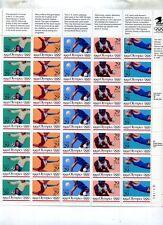 1992 OLYMPICS SUMMER .29 35 STAMP SHEET SCOTT #2637