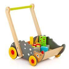 LEOMARK Walker Wooden Hedgehog With Blocks Children Toddler Shape Learning Toy