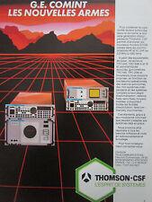 8/1986 PUB THOMSON-CSF TELECOMMUNICATIONS RADIO TRC243 TRC195 ORIGINAL FRENCH AD