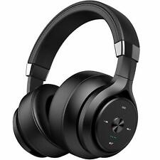 P28S Bluetooth Headphone Wireless Over-Ear Noise Reduction Headset Mic in Black