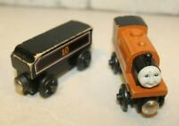 Thomas the Train Wooden DUKE engine with a #10 Car Vintage Toys Magnetic