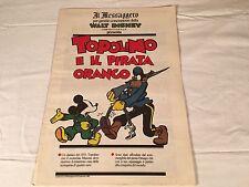 TOPOLINO E IL PIRATA ORANGO il messaggero 16 SETTEMBRE 1989