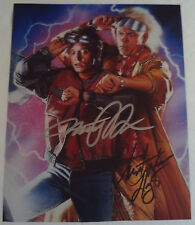 Michael J Fox & Christopher Lloyd Autographed BACK TO THE FUTURE Toon Photograph