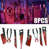 Halloween Blood Knife Horror Spooky Haunted House Hanging Knife Garland UP