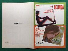(Z10) SPARTITO MUSICALE - GIANNI MORANDI/BELINDA NADA/CHE MALE FA GELOSIA (1969)