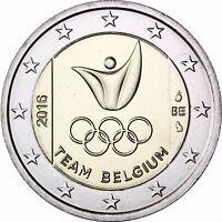Belgien 2 Euro Münze Belgisches Team bei der Olympiade in Rio 2016 bankfrisch
