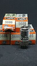 5 NOS General Electric 5-Star 5686 Vacuum Tubes tested