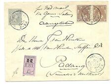 Aangetekende Envelop 12 1/2c.Wilh.(#7) + 7 1/2c.+15c.(#61+64) v.DH4 (1904) n.NI