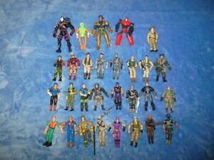 Lot of 29 Action Figures Army,Military,Fire Fighter,Worker