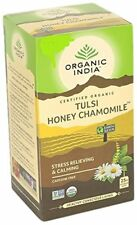 Organic India Tulsi Honey Chamomile - 25 Tea Bags (PACK OF 6)