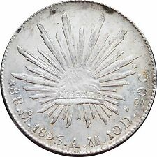Mexico 8 Reales Mo 1895 A.M. Mexico Mint, Much original luster. KM# 377.10