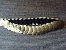 Gold Metal Disc Stretch Belt