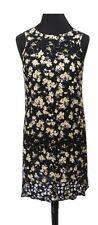 RIVER ISLAND Dress Size 6 Black w/ Yellow Floral Boho NEW w/ TAGS Cotton