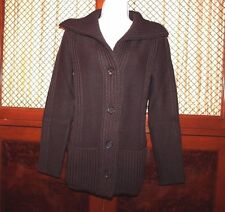 CELINE  Womens Brown Wool Sweater Cardigan Jacket Size Medium
