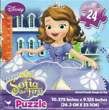 "Jigsaw Puzzle Disney SOFIA THE FIRST 24 Pieces 10.375"" x 9.125"" CuBx Cardinal"