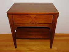 Vtg 1960's Kent Coffey Walnut Perspecta Nightstand Table Mid Century Modern