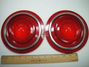 1962 Ford Galaxie Rear Lamp Tail Light Lens Lenses w/o B/U - PAIR - NEW