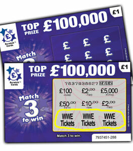 WWE Tickets Prize Gift Surprise Reveal ScratchCard Personalised Concert