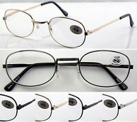 L129 3 Pairs Unisex Metal Frame Reading Glasses/Super Classic Style/Great Value