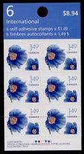 Canada 2134a Booklet BK320 MNH Flowers, Himalayan Blue Poppy