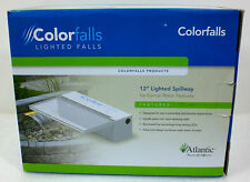 "Atlantic Colorfalls LED Sol White 12"" Waterfall for Ponds & Retaining Walls"