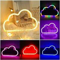 LED Cloud Neon Light Sign Night Lamp Wall Art Decorative Decor Room Party X7I2