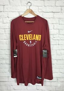 NEW Nike NBA Cleveland Cavaliers Team Issued Long Sleeve Warm Up Shirt Size XXL