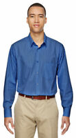 North End Men's New Wrinkle Resistant Long Sleeve Vertical Striped Shirt. 87044