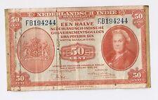 Netherlands Indies 1943 50 cents, Wilhelmina