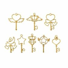 8Pc Magic Wand Frame Pendant Open Bezel Blank Setting UV Resin Jewelry DIY Charm