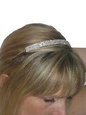 Bridal Wedding Tiara Silver Rhinestone Crystal Diamante Headband Alice Band
