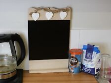Shabby Chic Rustic Wooden Blackboard With Heart's Chalkboard Memo Board Decor