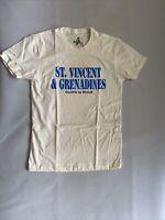 Marky G Men Fine Jersey Short Sleeve T-shirt beige St. Vincent Grenadines NEW S