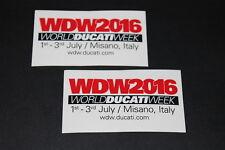 +094 WDW 2016 Ducati Week It Logo Aufkleber Decal Sticker Autocollant Motorrad