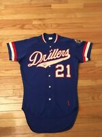 Chad Kreuter Tulsa Drillers Texas League Vintage Rawlings Game Used Auto Jersey