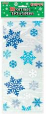 BLUE SNOWFLAKES Christmas Cellophane Cello Party Sweet Cookie Bags - Pack of 20