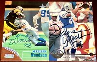 Darren Woodson Dallas Cowboys auto autograph football card LOT