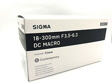 New SIGMA 18-300mm f/3.5-6.3 DC MACRO HSM Contemporary Lens for PENTAX K