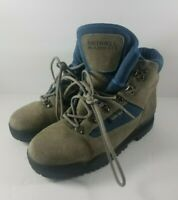 Merrell Blazer GTX Blue & Gray Leather & Gore-Tex Hiking Boots Women's USA 8