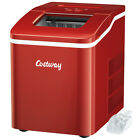 Portable Ice Maker Machine Countertop 26Lbs/24H Self-cleaning w/ Scoop Red photo