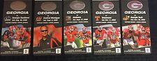 Georgia Bulldogs Football 2008 Lanyard  Unsed Ticket Lot- Matt Stafford & Moreno