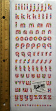 Alphabet Stickers 4 Sheets Upper& Lower Case Letters and Numbers Pink w Hearts
