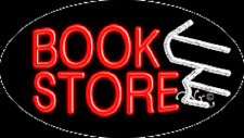 """NEW """"BOOK STORE"""" 30x17 OVAL SOLID/FLASH REAL NEON SIGN w/CUSTOM OPTIONS 14090"""