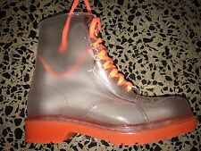 ### JELLY BEAN GUMBOOTS RETRO COLOURFUL LACE UP BOOTS GIRLS WOMENS ORANGE Sz 7 #