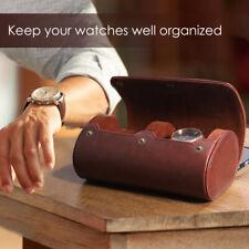 NICERIO 2 ranuras Caja de reloj de viaje Organizador de almacenamiento de reloj