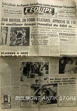 Journal l'Equipe n°1963 -1952 - J.O - Jean Boiteux - Planque - Belkacem Boxe -