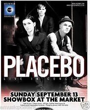PLACEBO 2009 SEATTLE CONCERT TOUR POSTER - U.K. ALTERNATIVE ROCK MUSIC