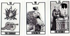 Useless tarot by Poppen  22 majors  transparency tiny cards black & white deck