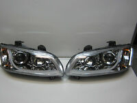 Holden Commodre VE SERIES 2 CHROME LED DRL Projector Headlights Pair New